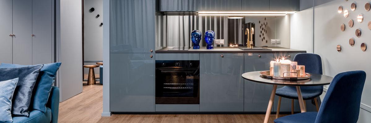 cucina azzurra moderna