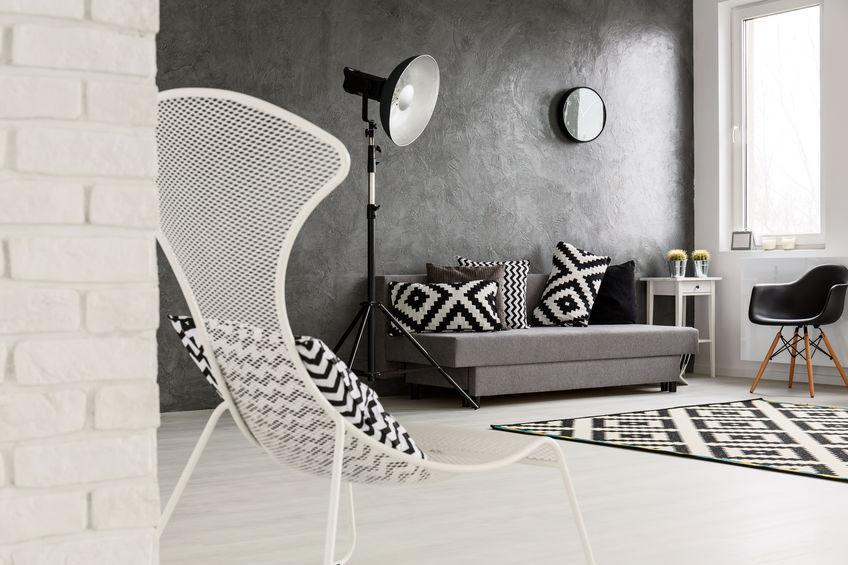 Divano grigio: nordico e geometrico