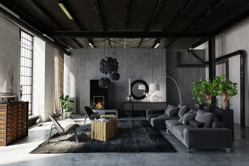 Soggiorno: divano grigio per arredare con stile