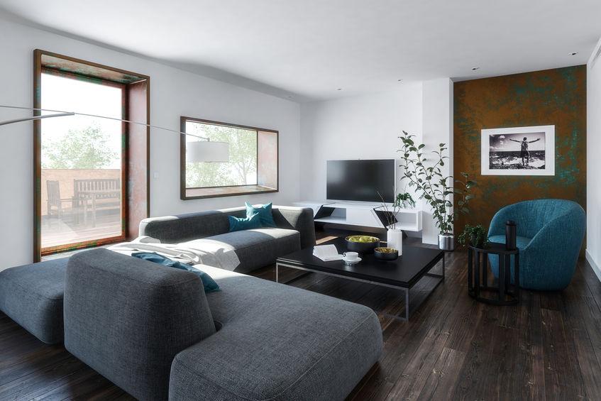 8 modi per arredare con un divano grigio