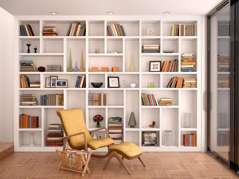 libreria a tutta a altezza