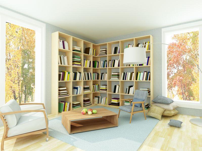 libreria a giorno in legno