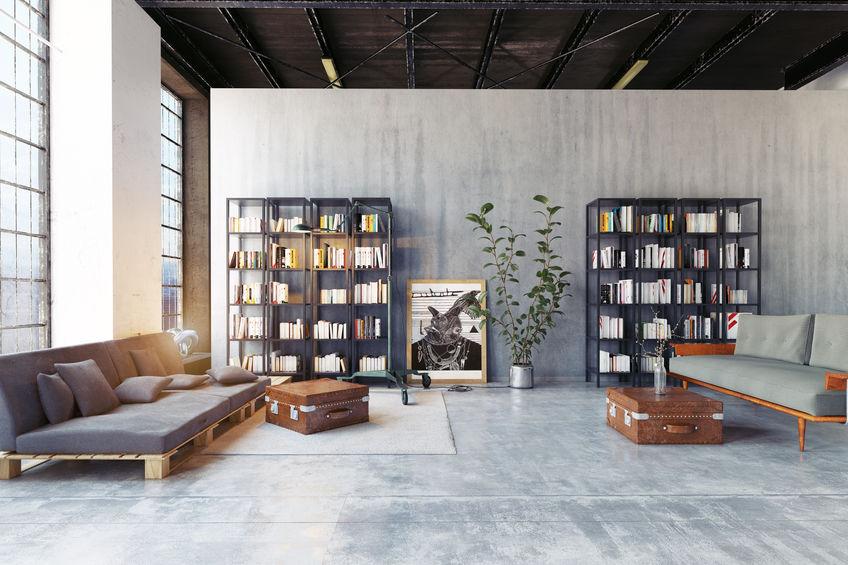 libreria a giorno in metallo