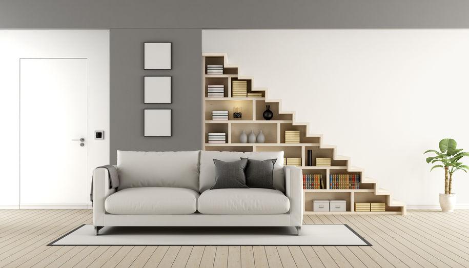 libreria su misura per arredare sottoscala