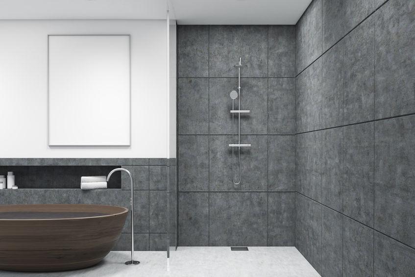 bagno grigio di lusso