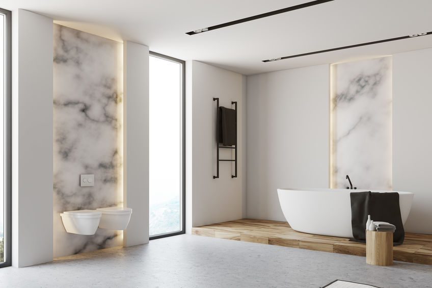 Nicchia in bagno: versatile nella parete