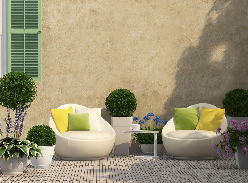 arredamento patio moderno