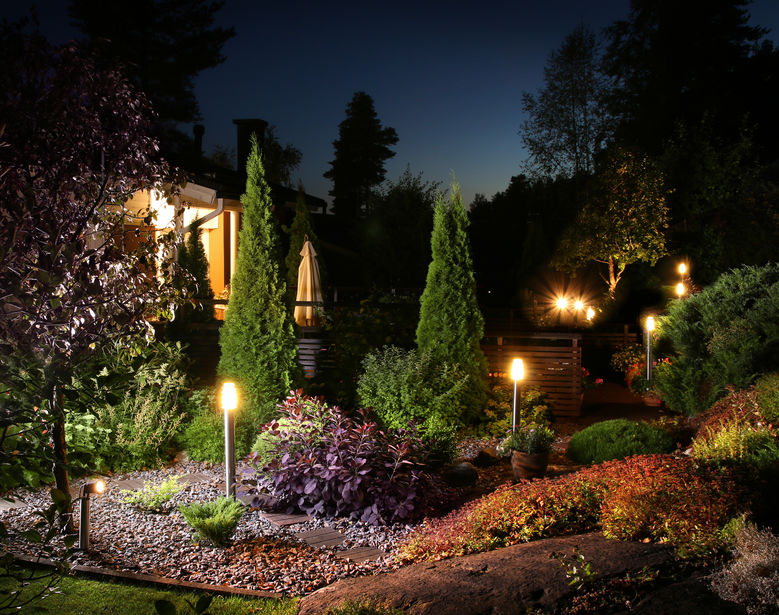 lampioni segna passo giardino