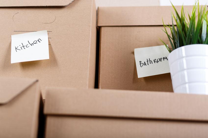 Trasloco: suddividi le scatole in base alla stanza di appartenenza