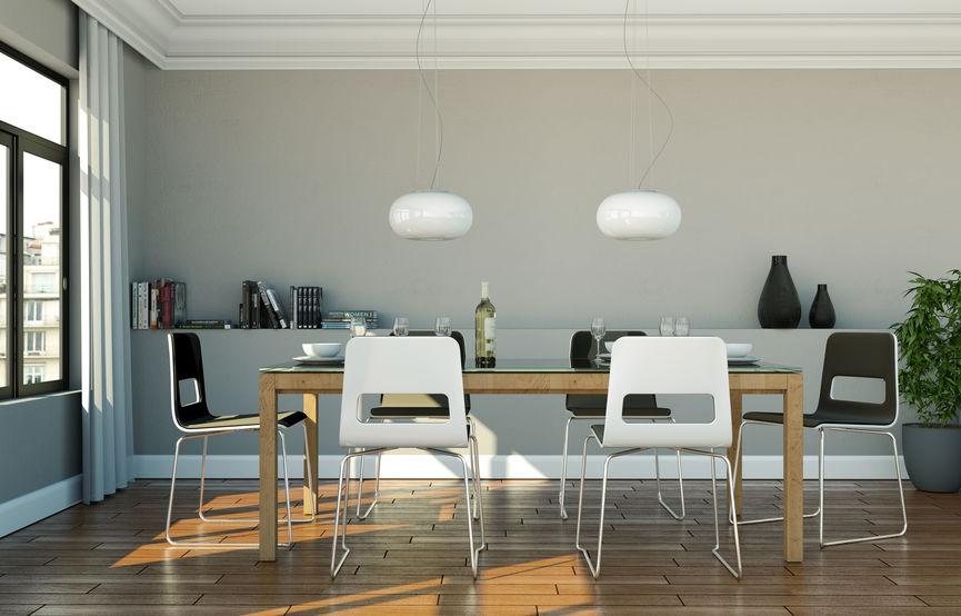 Sala da pranzo ricercata e originale