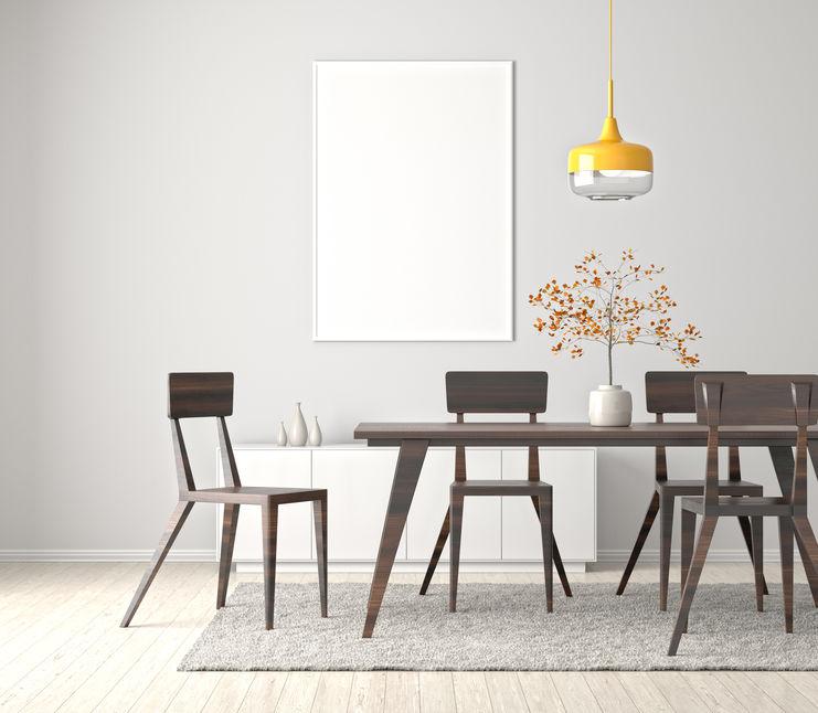 Sala da pranzo nordica e di design