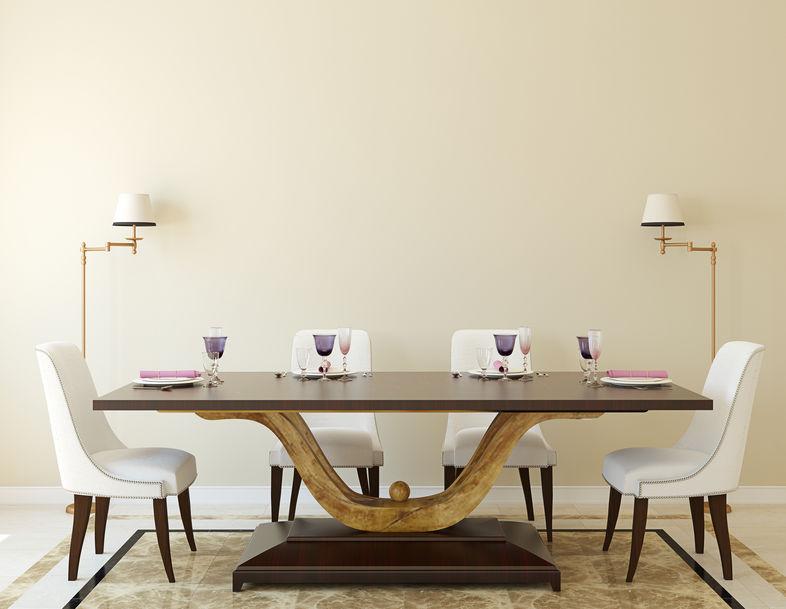 Sala da pranzo tradizionale e classica