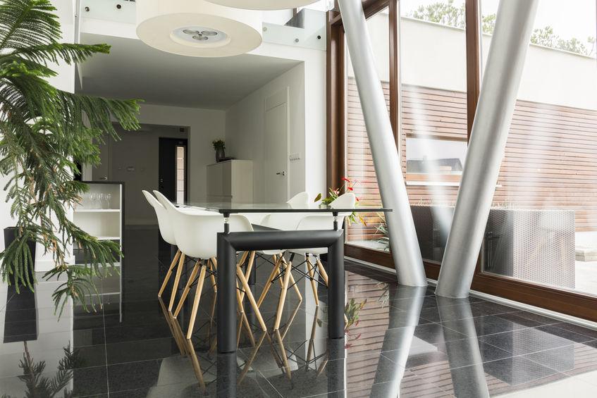 Sala da pranzo moderna e di stile