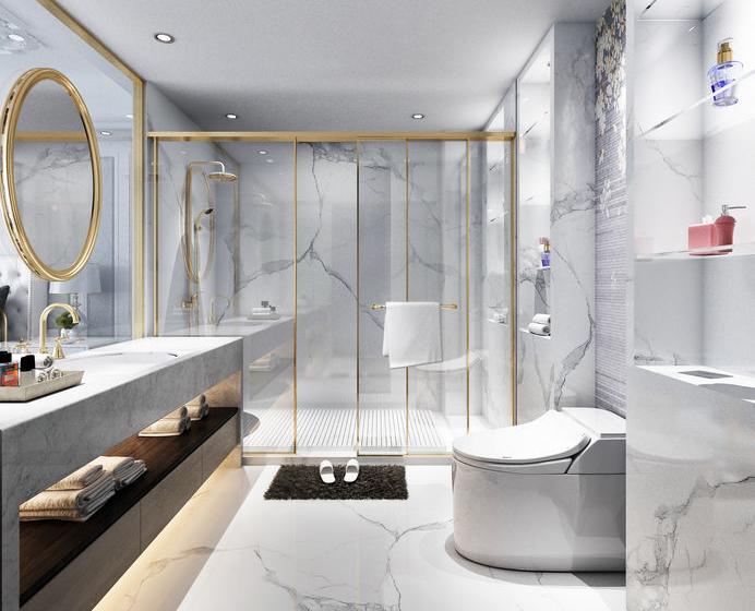 bagno elegante e sofisticato