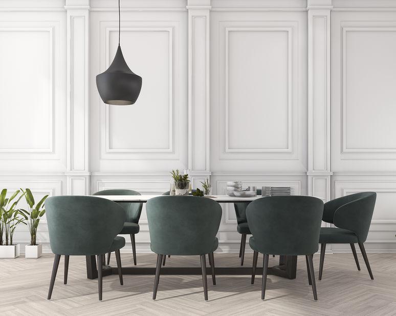 Sala da pranzo formale ed elegante