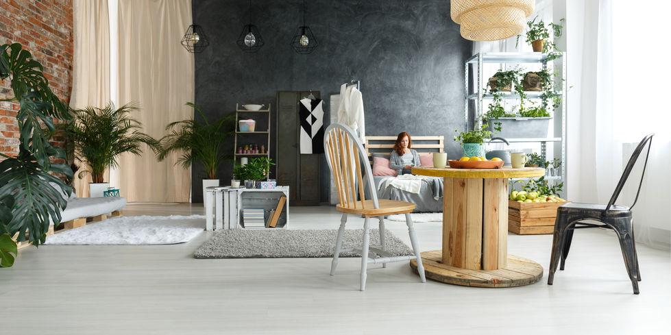 tavolo con bobina in legno