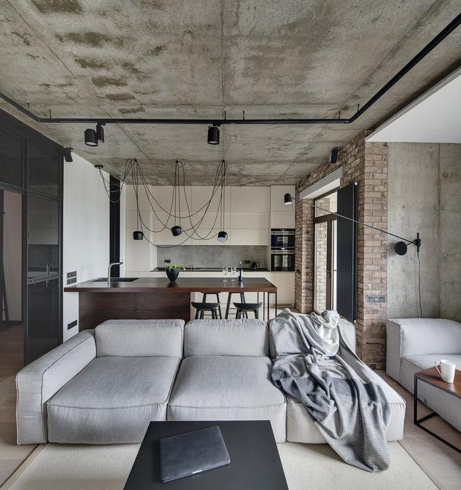 Open space tra soggiorno e cucina