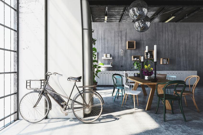 decorare casa con una bicletta
