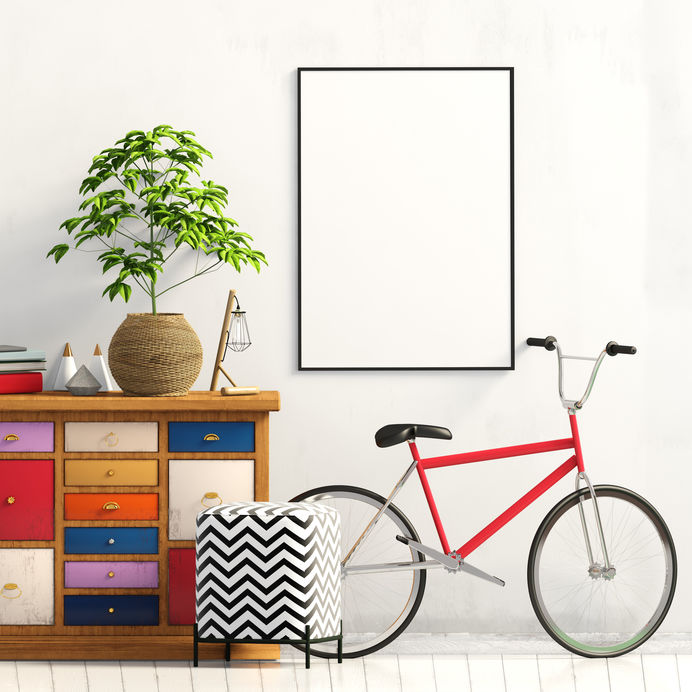 bici nell'ingresso di casa