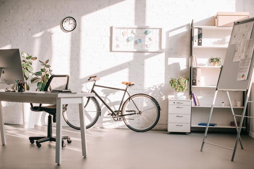 bicicletta nello studio