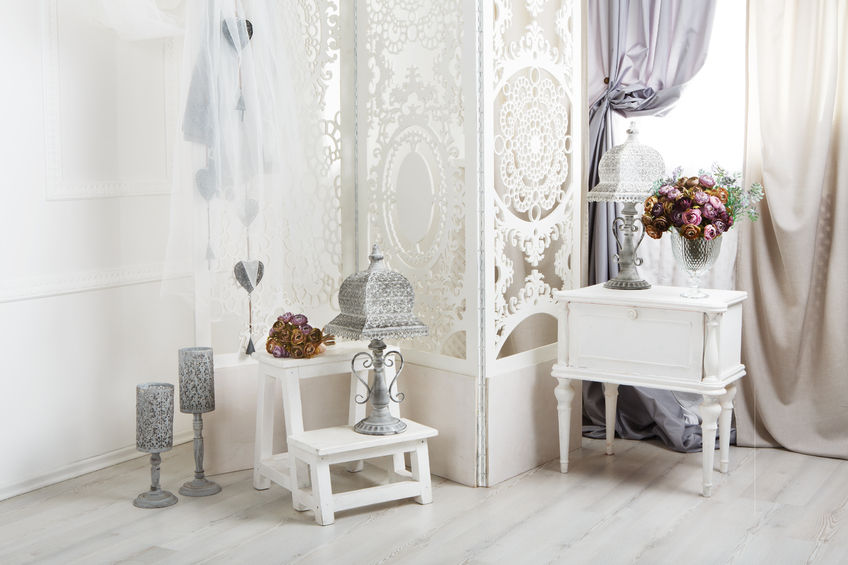 Accessori per una camera da letto in stile provenzale