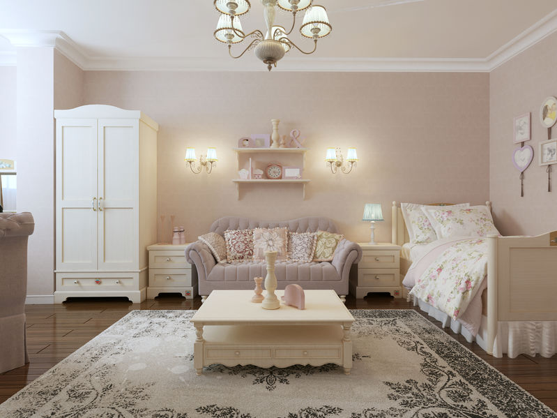 Arredi per una camera da letto in stile provenzale