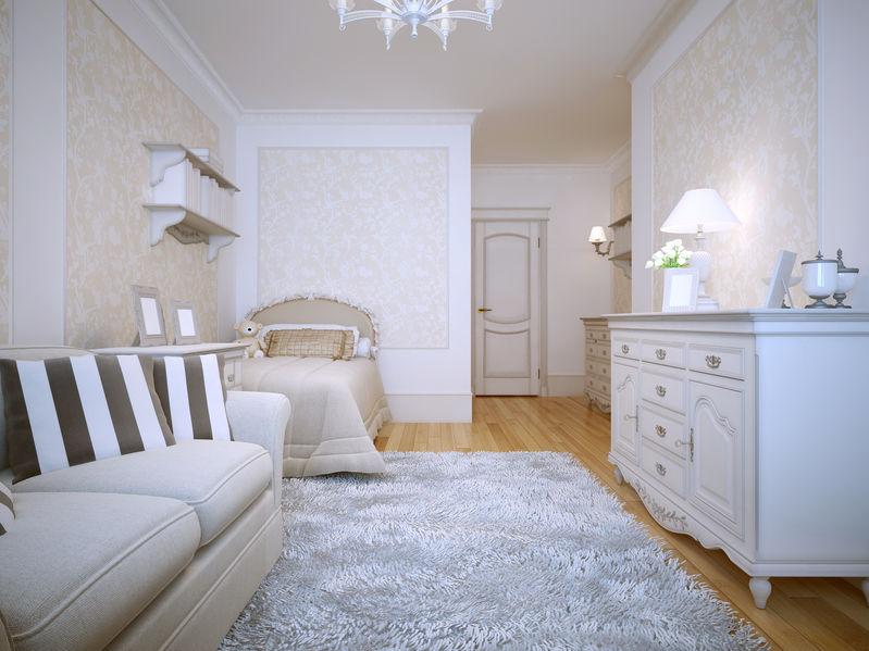 Complementi d'arredo per una camera da letto in stile provenzale