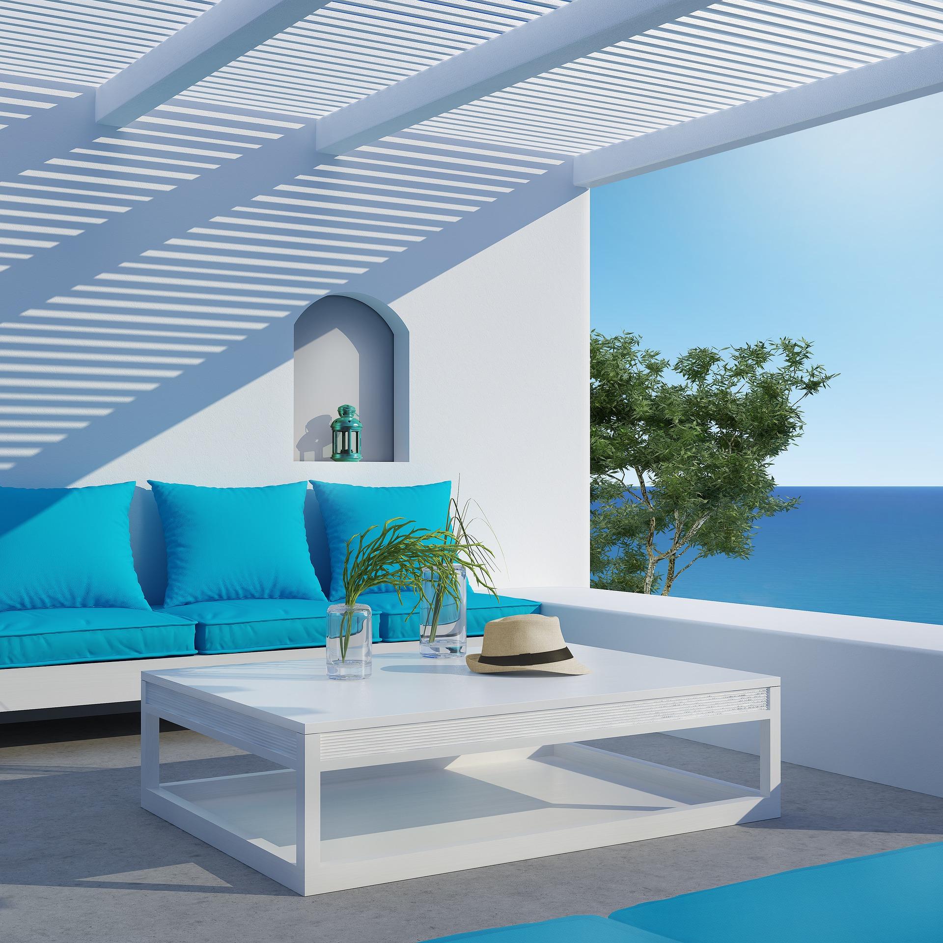 Arredo giardino azzurro: come decorare outdoor