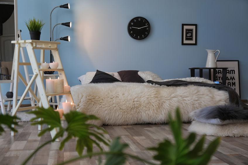 futon in camera da letto
