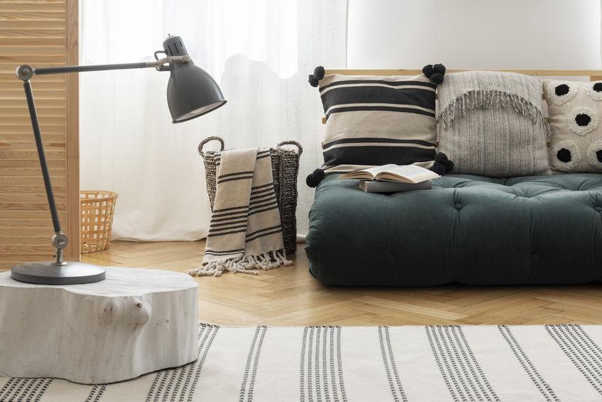 futon usato come divano