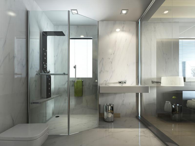 Box doccia: apertura a battente angolare