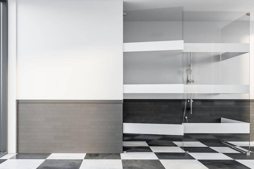 Box doccia con apertura a doppio battente