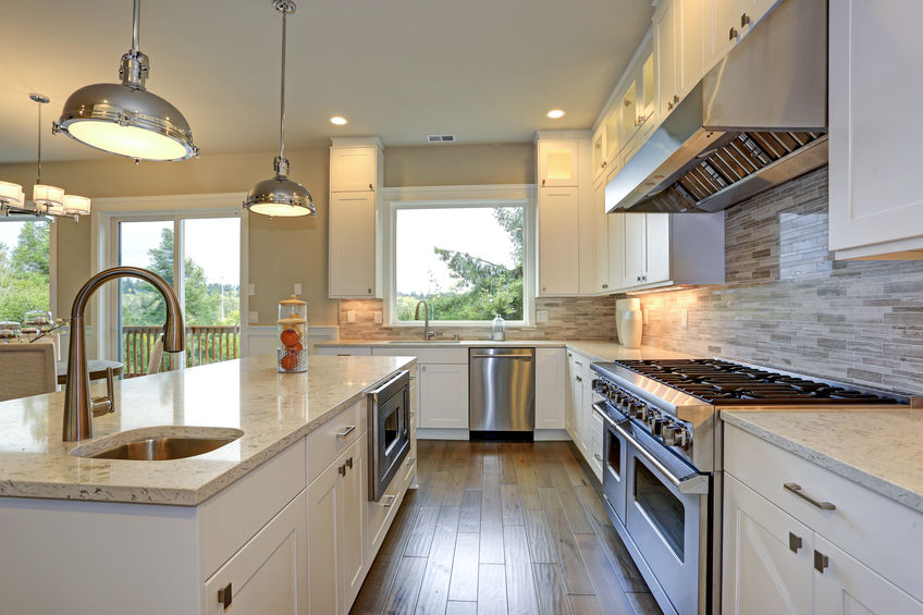 cucina con due lavelli