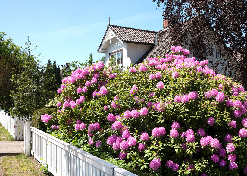 Legno: recinzione classica per la casa