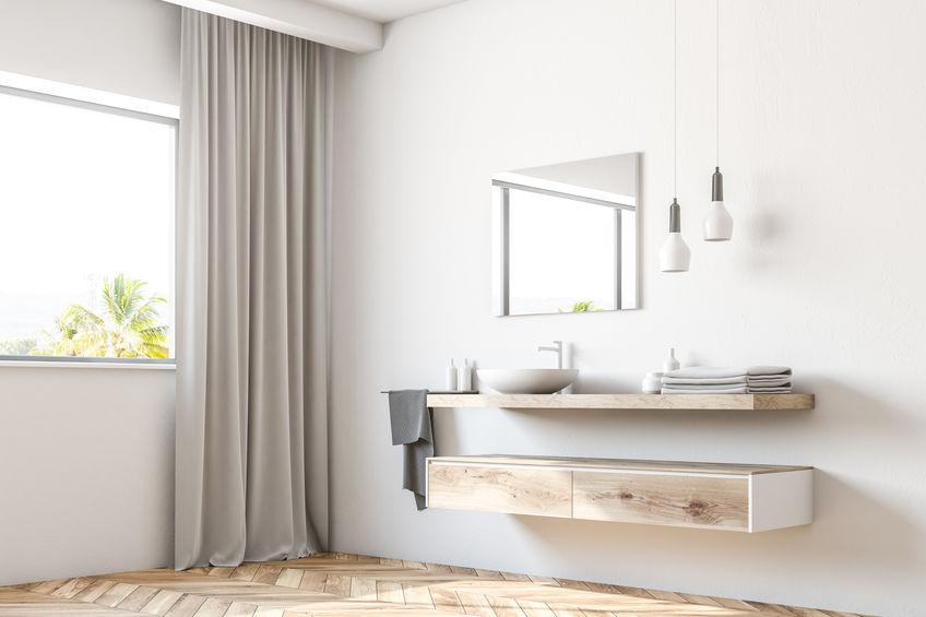 Pavimento per il bagno in legno