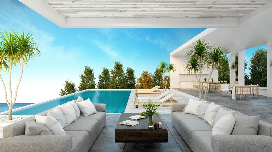 salotto piscina