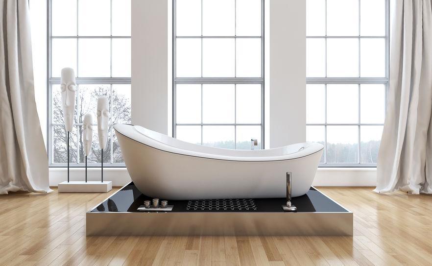 vasca da bagno a libera installazione