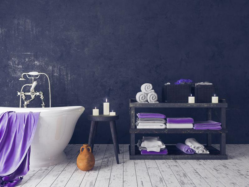 asciugamani bagno viola