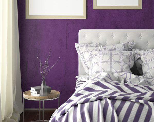 camera da letto viola