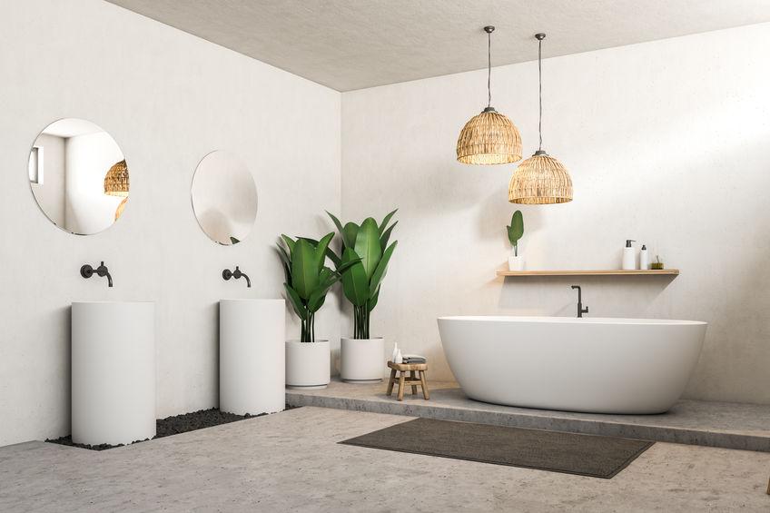 doppio lavabo freestanding