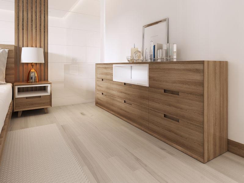 cassettiera in legno moderna