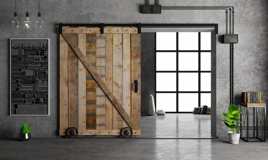 Porta salvaspazio: scorrevole esterno muro