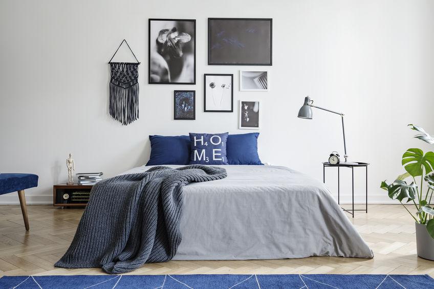 Arredare la camera da letto in blu