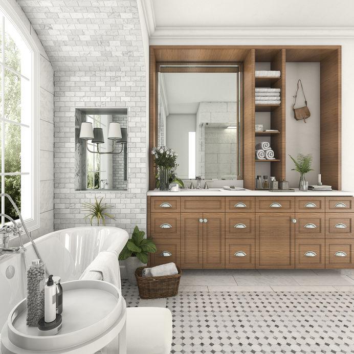 Legno in bagno: arredi e complementi