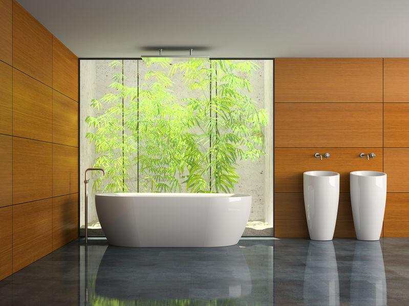 Legno in bagno: chic sulle pareti