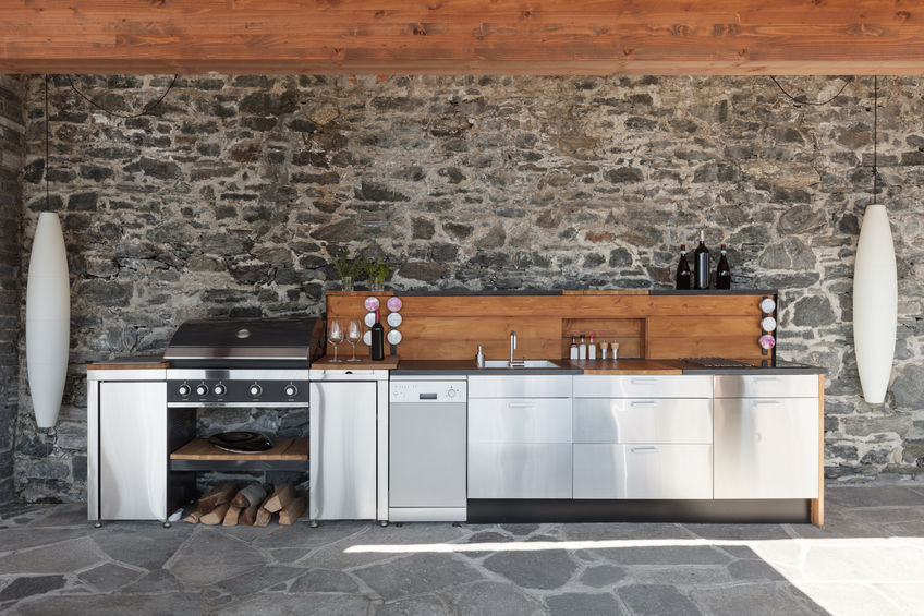cucina in acciaio per esterni