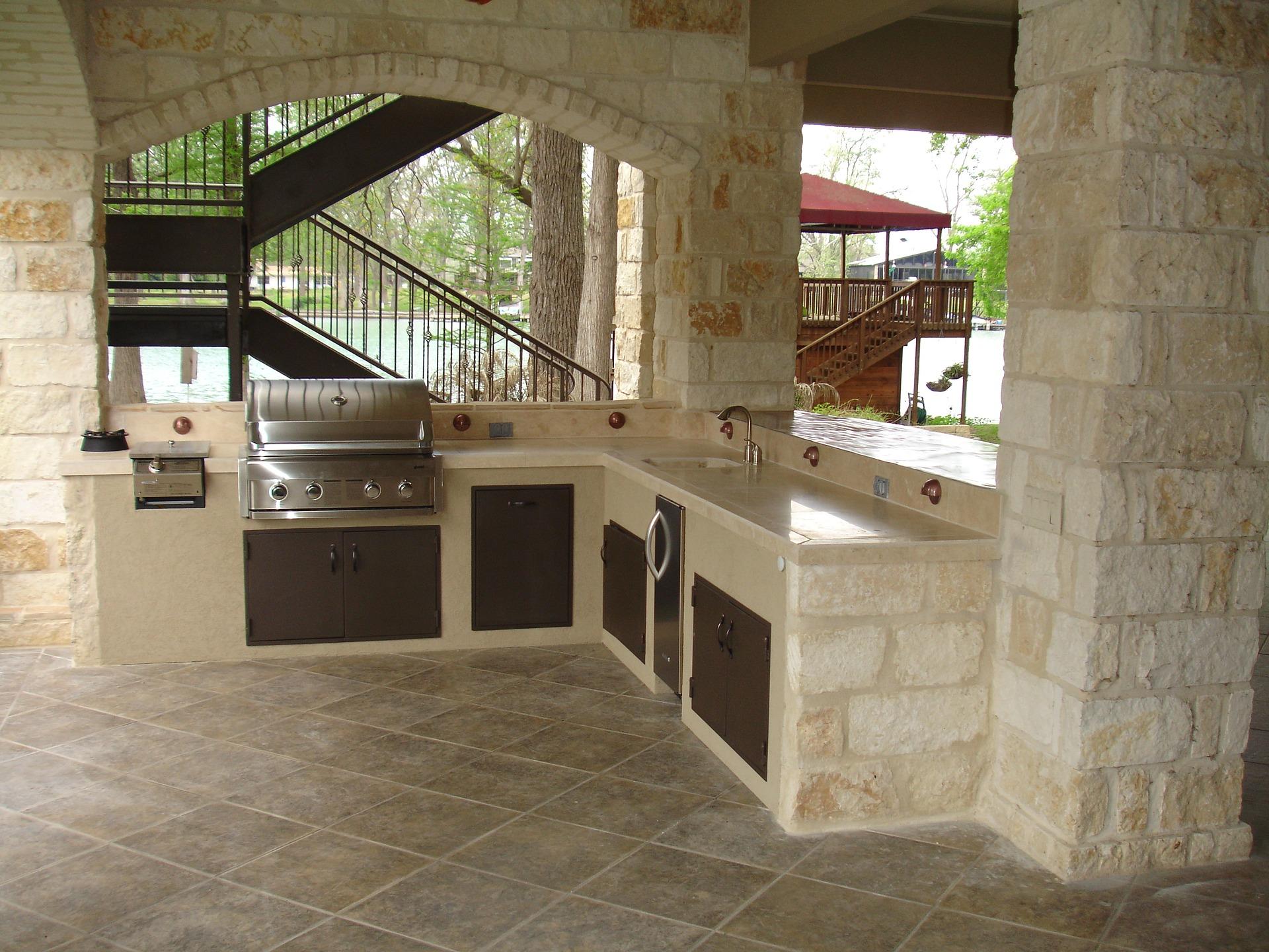 cucina in muratura per esterni