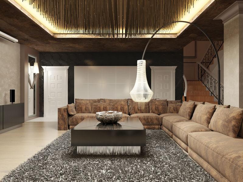 Soggiorno con lampada orientabile alternativa