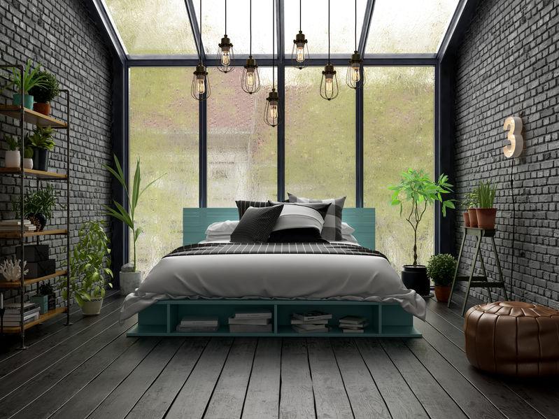 Immagini di un letto davanti alla finestra