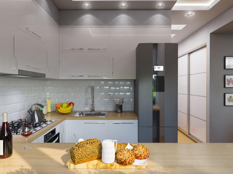 Cucina hi-design e low cost: grigia e moderna